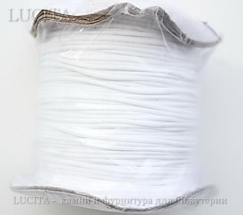 Шнур вощеный, 1 мм, цвет - белый, примерно 85 м ()