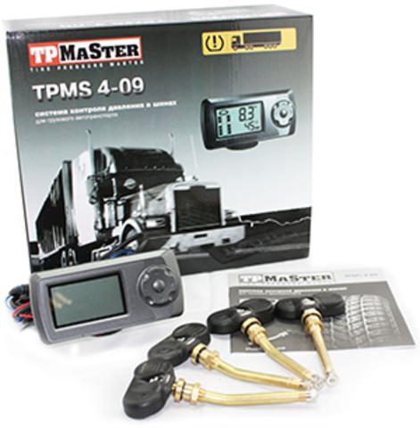 Датчики давления в шинах (TPMS) для грузовых автомобилей ParkMaster TPMS 6-09 с 6-ю встраиваемыми датчиками