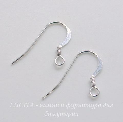 Швензы-крючки плоские 20х14 мм (цвет-серебро), Silver filled, пара