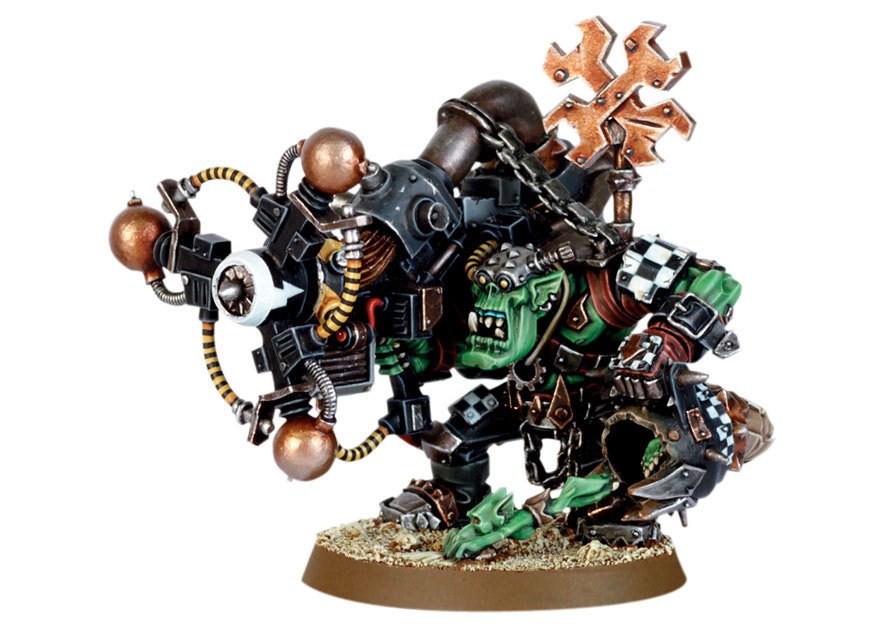 Ork Big Mek with Shokk Attack Gun