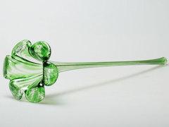 Цветок стекло зеленый