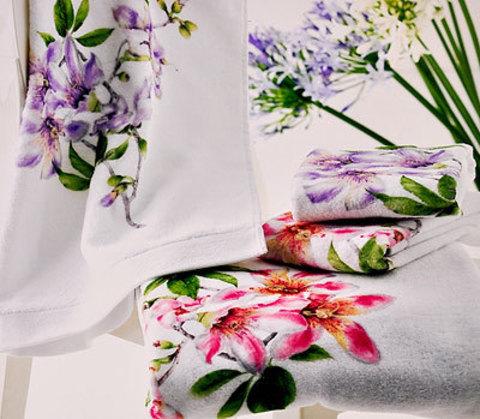 Набор полотенец 2 шт Mirabello Chorisia розовый