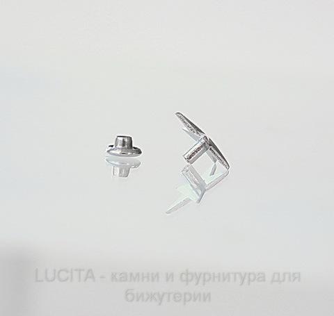 """Заклепка из 2х частей """"Звезда"""" (цвет - античное серебро) 14х13х6 мм,7х4 мм"""