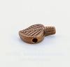 """Бусина металлическая """"Лист"""" (цвет - античная медь) 13х8 мм"""