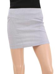 91289 юбка женская, бело-фиолетовая