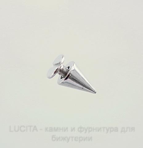 Шип винтовой из 2х частей (цвет - античное серебро) 10х7 мм, 7х6 мм