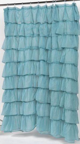 Элитная шторка для ванной Carmen голубая от Carnation Home Fashions