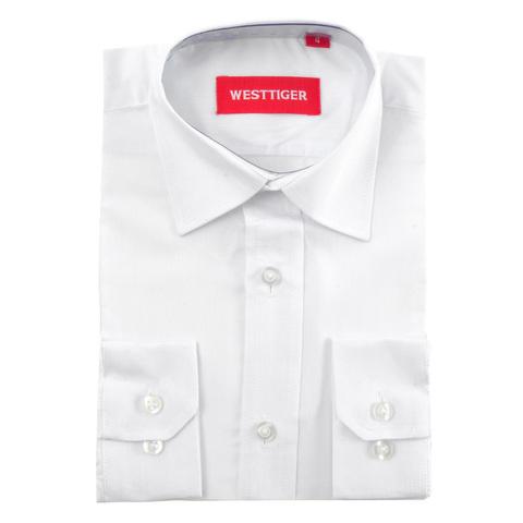 66-6 рубашка для мальчиков, белая