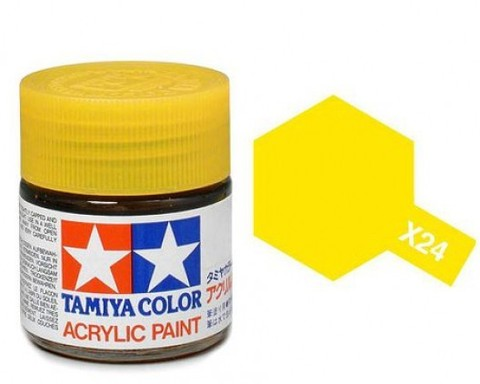 X-24 Краска Tamiya, Прозрачный Желтый (Clear Yellow), акрил 10мл