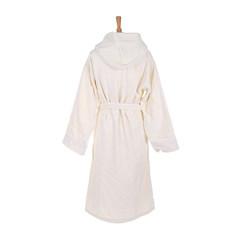 Элитный халат велюровый Zebrona с капюшоном молочный от Roberto Cavalli