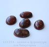 Кабошон овальный Яшма Брекчиевая (цвет - темно-красный) 18х13х6 мм №8 ()