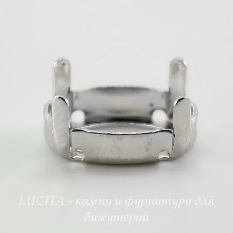 4120/S Сеттинг - основа для страза 14х10 мм (цвет - античное серебро) ()