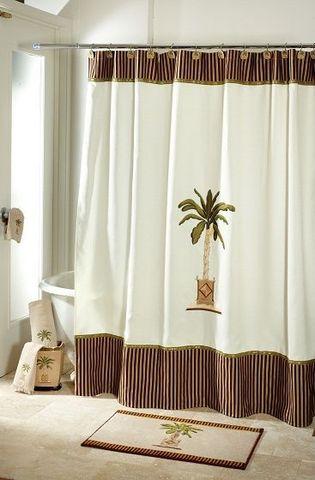 Элитная шторка для ванной Banana Palm от Avanti