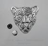 "Заклепка из 2х частей ""Леопард"" (цвет - античное серебро) 36х35х10 мм, 7х4 мм ()"