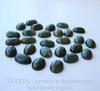 Кабошон овальный Агат Моховой (цвет - болотный) 18х13х6 мм №2