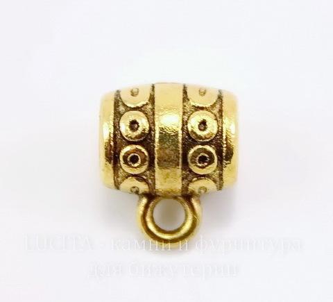 "Бейл ""Кружочки"" (цвет  античное золото) 10х9 мм"
