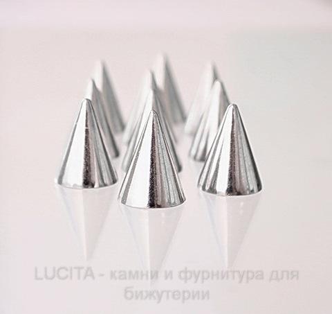 Шип винтовой большой из 2х частей (цвет - античное серебро) 20х15 мм, 8х7,3 мм ()