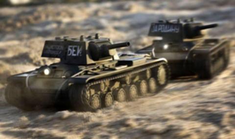 Радиоуправляемый танк VsTank KV-1B (стрельба, звук, детализация) (1:24) (код: A03102629)