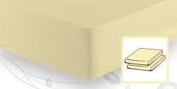 Элитная простыня трикотажная 8000 ванильная от Elegante