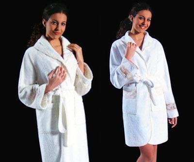 Элитный халат махровый короткий Tanya от Timas