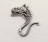 """Винтажный декоративный элемент - штамп """"Мифический дракон"""" 19х18 мм (оксид серебра)"""