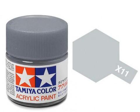 X-11 Краска Tamiya, Хромир. Серебро Глянцевый (Chrome Silver), акрил 10мл