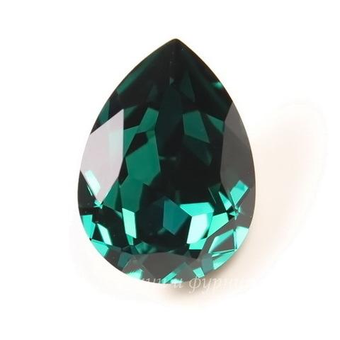 4320 Ювелирные стразы Сваровски Капля Emerald (14х10 мм)