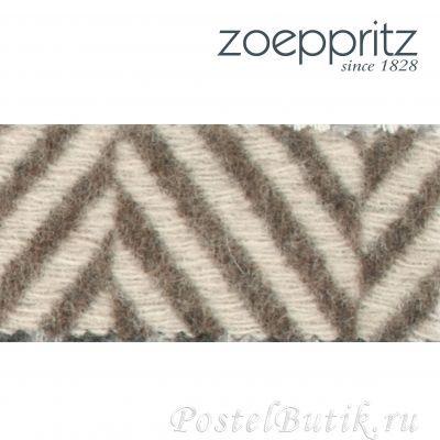 Элитный плед шерстяной Evolution коричневый от Zoeppritz