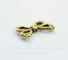 """Бусина металлическая """"Крылья бабочки"""" (цвет - античное золото) 15х10 мм"""