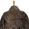 Элитный халат велюровый Pitone черный от Roberto Cavalli