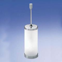 Ершик напольный с крышкой Windisch 89118MCR Plain Crystal