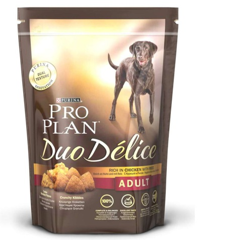 Pro plan duo delice adult with chicken & rice dog
