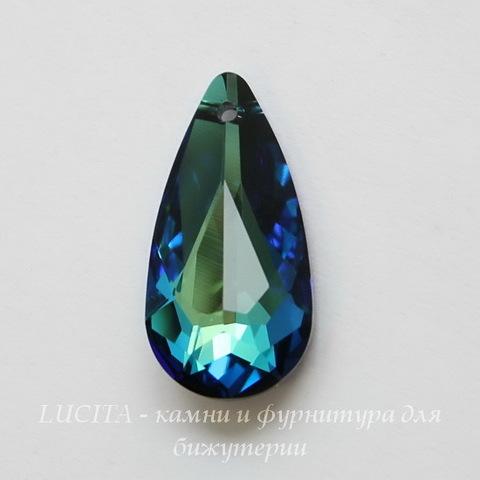 6100 Подвеска Сваровски Капля Crystal Bermuda Blue (24х12 мм) ()