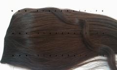 Накладной хвост #2A-горький шоколад-63-65 CM