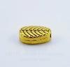 """Бусина металлическая """"Листик"""" (цвет - античное золото) 8х5 мм, 10 штук"""
