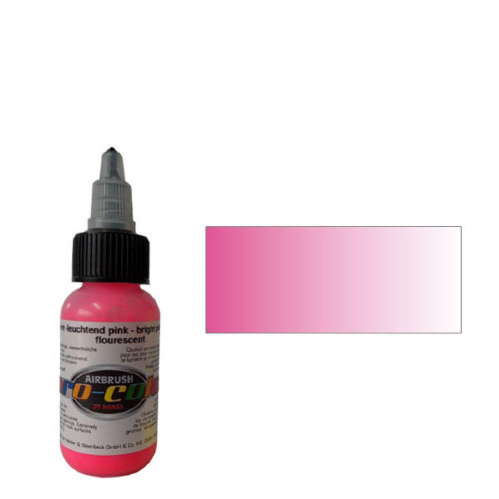 62054 Краска для аэрографии Pro-Color Bright Pink (РОЗОВЫЙ) 30мл. флуорисцентный