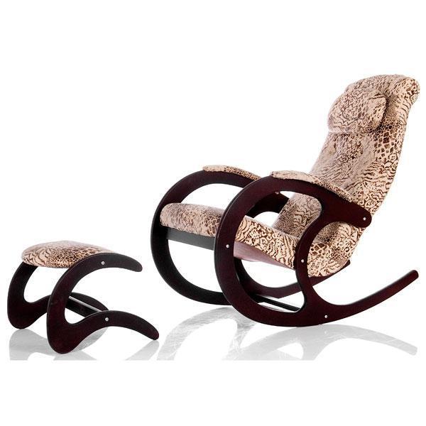 Деревянные Кресло-качалка Блюз 2 Ткань с банкеткой 017.004.JPG