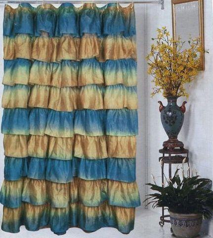 Элитная шторка для ванной Carmen радужная от Carnation Home Fashions
