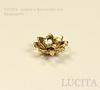 """Шапочка для бусины """"Цветочек - 3"""" (цвет - античное золото) 8х8х3 мм, 10 штук"""