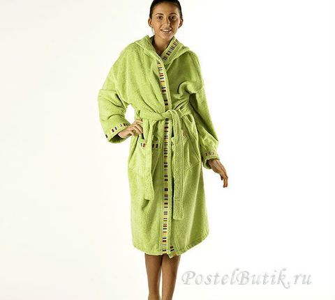 Элитный халат махровый Yupi зелёный от Caleffi