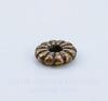 Бусина металлическая - спейсер (цвет - античная медь) 7х2 мм , 10 штук