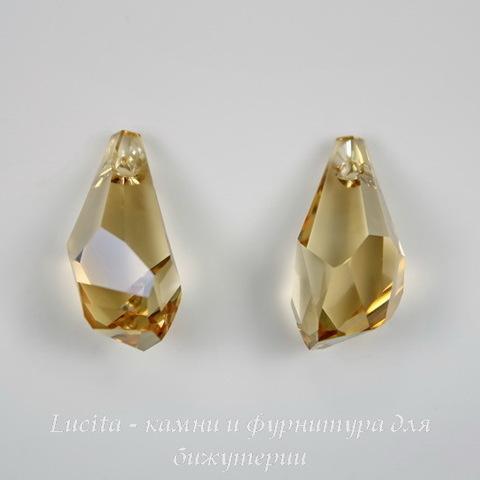 6015 Подвеска Сваровски Polygon Drop Crystal Golden Shadow (21 мм) ()