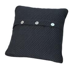 Элитная подушка декоративная Fresno темно-синяя от Casual Avenue