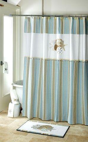 Элитная шторка для ванной By the Sea от Avanti