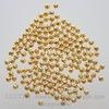 Бусина металлическая филигранная (цвет - золото) 4 мм, 10 штук