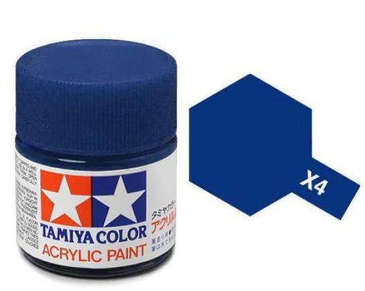 X-4 Краска Tamiya, Синий Глянцевый (Blue), акрил 10мл
