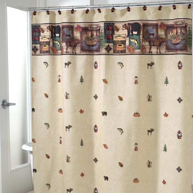 Элитная шторка для ванной Camping Trip от Avanti