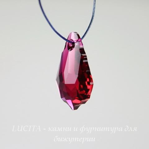6090 Подвеска Сваровски Baroque Ruby (16х11 мм) ()