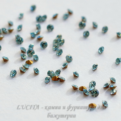 1028 Стразы Сваровски Aquamarine PP 13 (1,9-2 мм), 10 штук