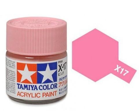 X-17 Краска Tamiya, Розовый Глянцевый (Pink), акрил 10мл